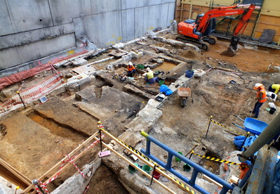 Historic heritage archaeological excavation